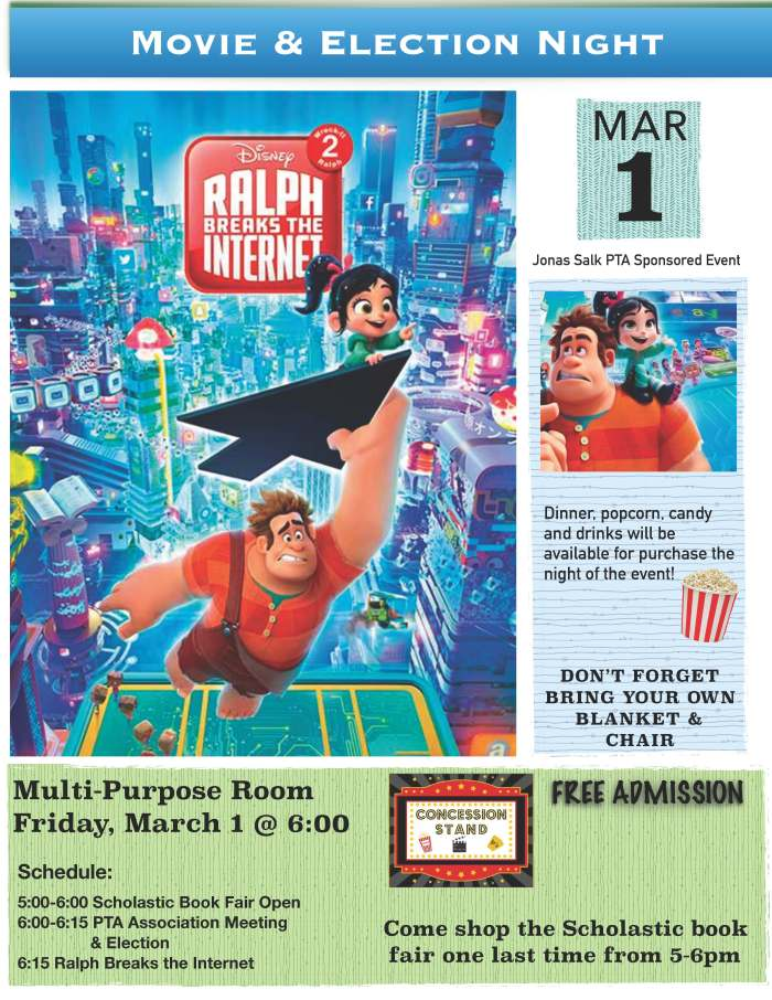 2019.03.01 - JSES Movie Night - Ralph Breaks the Internet