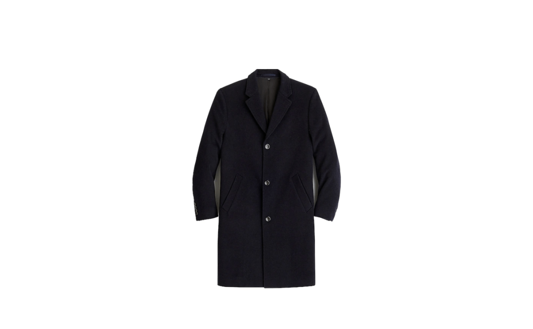 navy topcoat