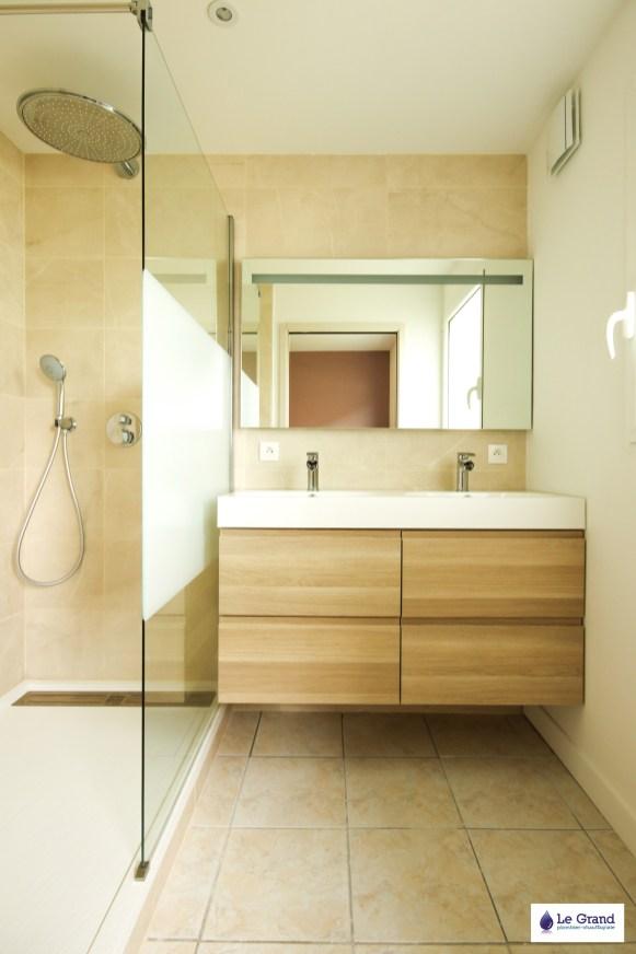 Le Grand Plombier Chauffagiste Rennes Bruz - Salle de bains Rennes - Plomberie - Agencement - Salle de Bains Rennes - Douche Acquabella