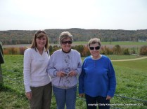 Dana's cousin Cyndi, aunt Ruth and mother Dorothy at Mount Jeez, near Mansfield, Ohio