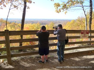 Andy and Dana taking in the beautiful fall view from the Chapin Forest overlook, Lake County, Ohio