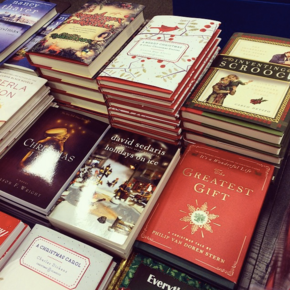 This massive display of Christmas books...