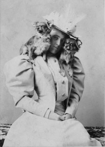 Edith Wharton with dogs