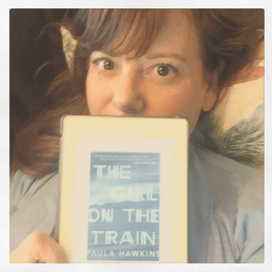At the Dewey's Readathon halfway point, my bookish self is reading The Girl on the Train