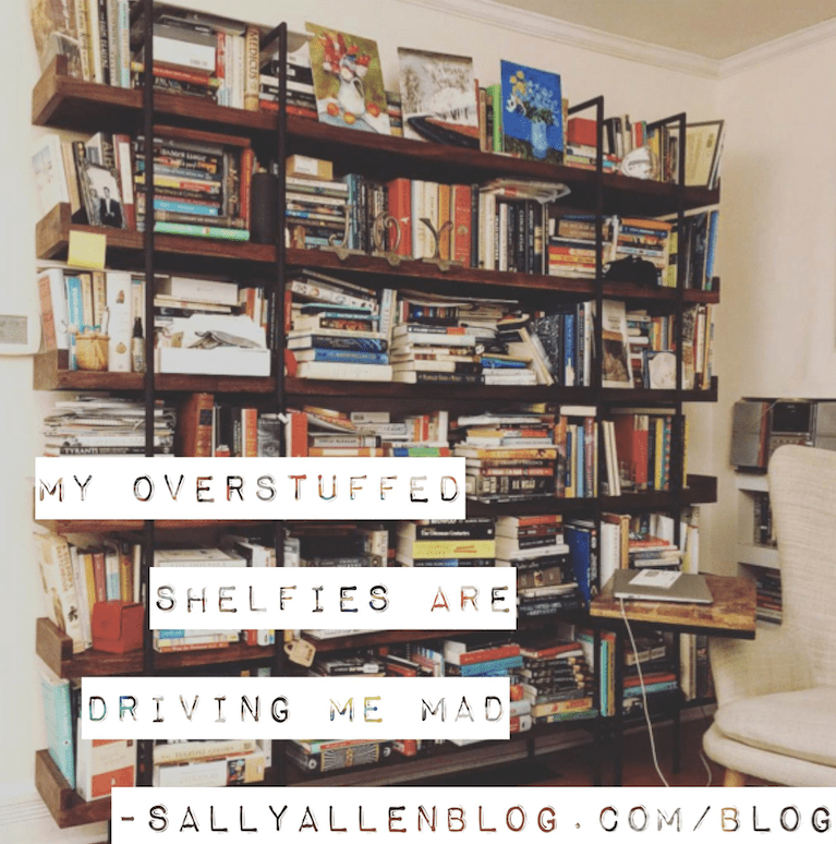 Trying to find a specific title on my shelfies is like trying to find the Rosetta Stone, without the benefit of Napoleon's army.