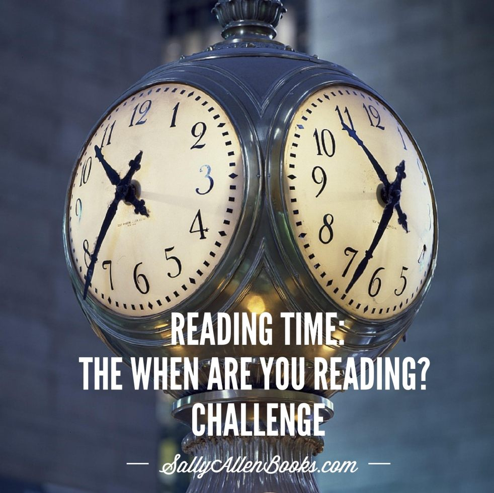 The When Are You Reading? Challenge invites participants to read one book in 12 time periods. Lends new meaning to the phrase reading time, doesn't it?