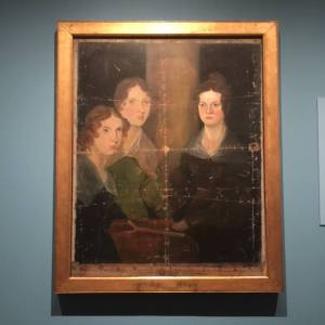 Portrait of the Bronte Sisters at the Charlotte Bronte exhibit