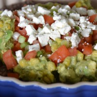 Layered Sweet Corn Guacamole and Black Bean Dip
