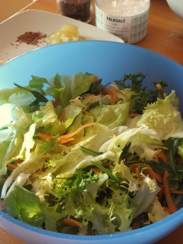 preparazione insalata