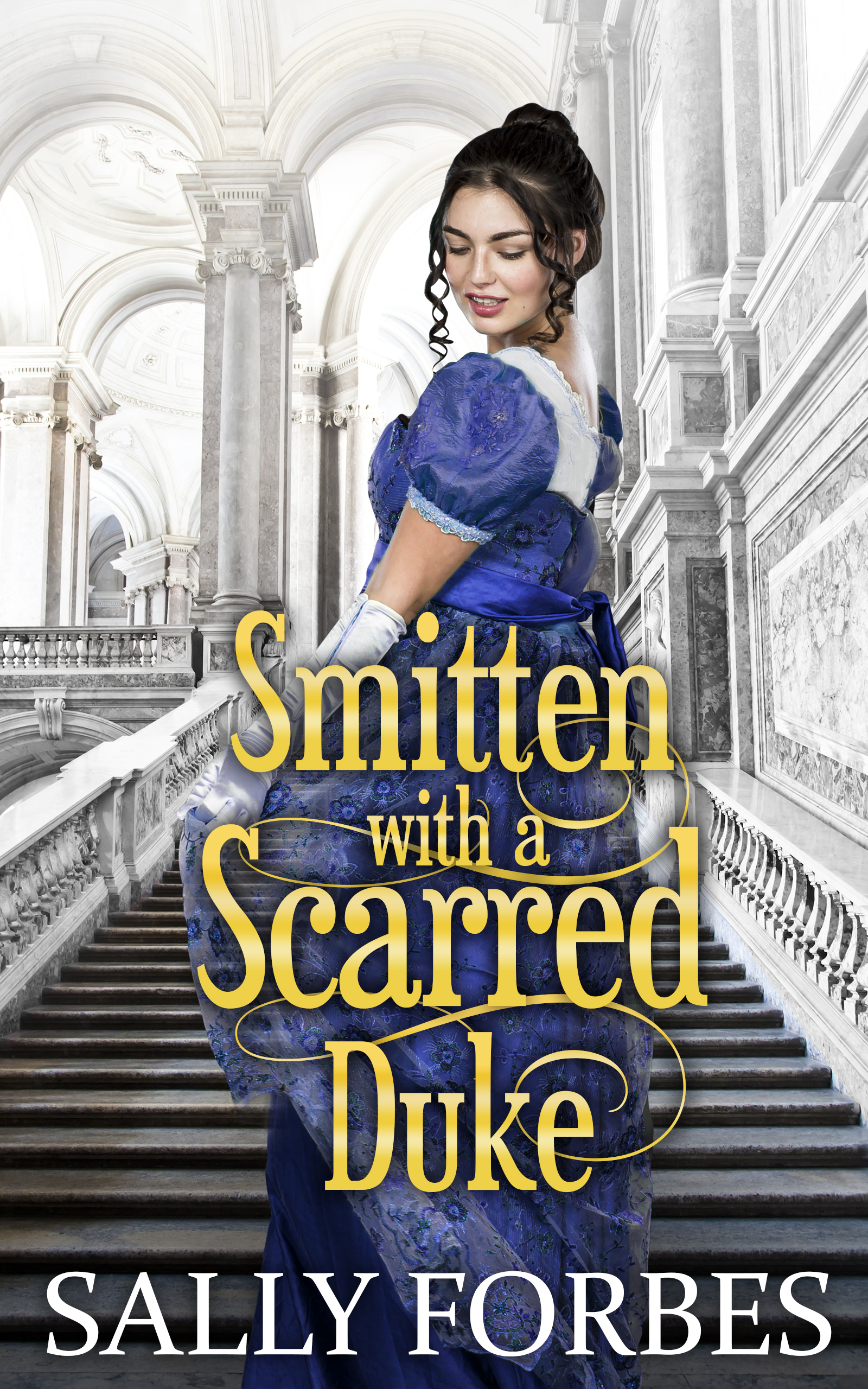 Smitten with a Scarred Duke Cover