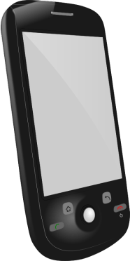 Clip Art of a Cell Phone
