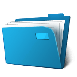 blue file folder clipart