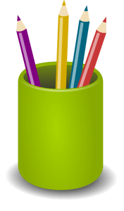 Cup of Pens ClipArt