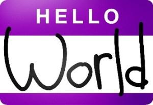 Hello World Name Tag