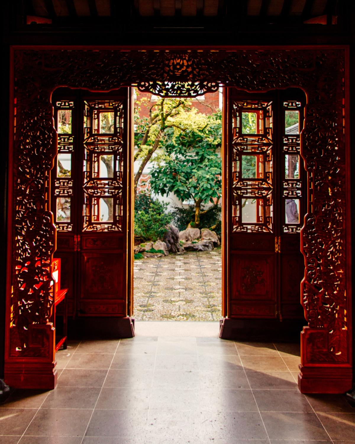 image of a doorway looking out