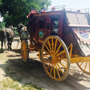 We road a stage coach in Olathe, Kansas. It was part of the Sante Fe Trail.