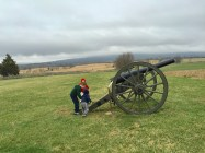 Playing with canons at Antietam National Battlefield