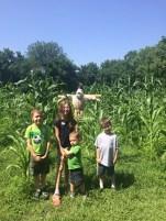 Kids and corn