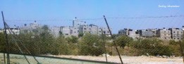 Apartment buildings in North Gaza