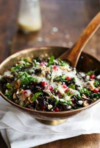 wild rice and baby Kale salad
