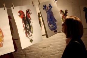 artwork hanging in gallery