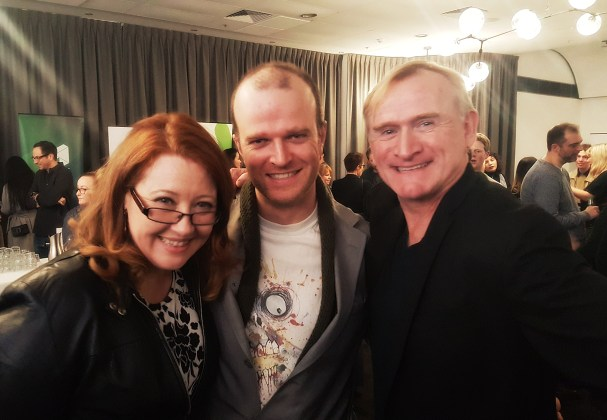 Sally McLean, Billy Smedley and Dean Haglund at the MWF Opening Night