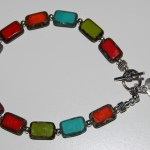 cloudy glass bracelet multi