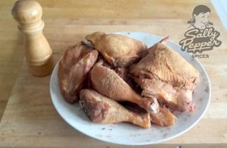 Pollo macerado.