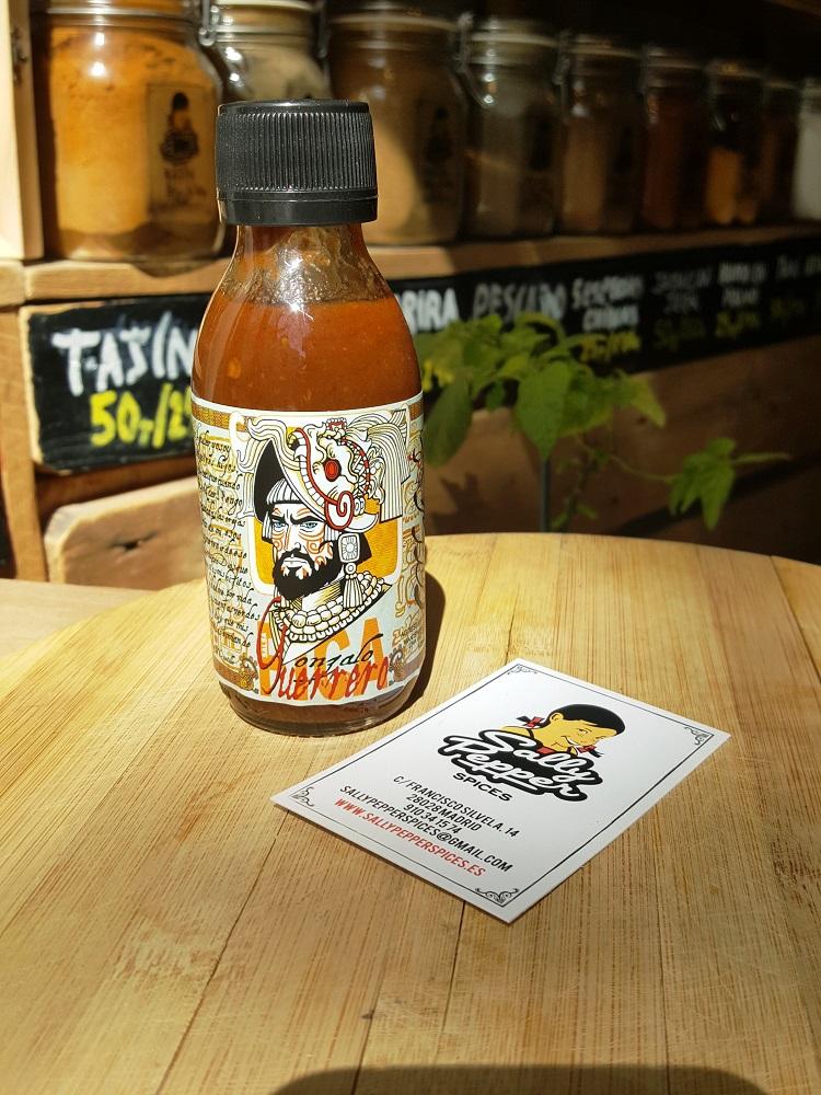 Sally Pepper Spices la Tienda Especias en madrid presenta la salsa picante Gonzalo Gerrero: Chilacalt