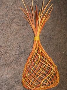bias weave dyed cane basket
