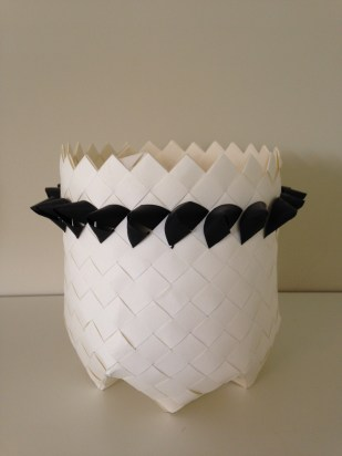 plaited paper basket