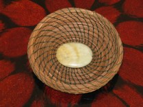 pine needle coiled basket
