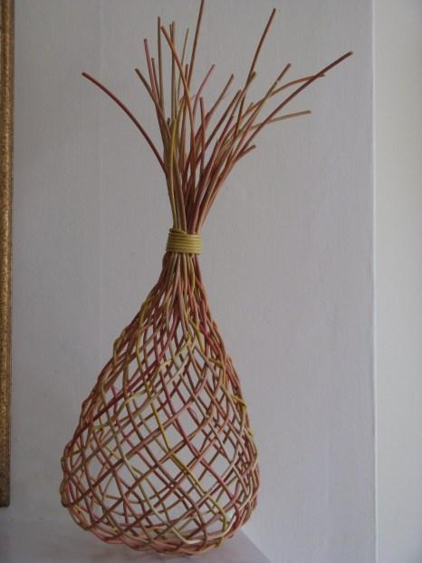 Bias weave open plaited cane