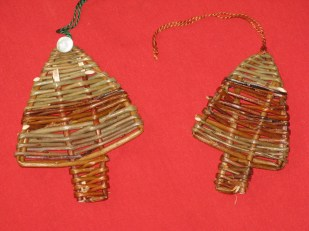willow Christmas tree ornaments