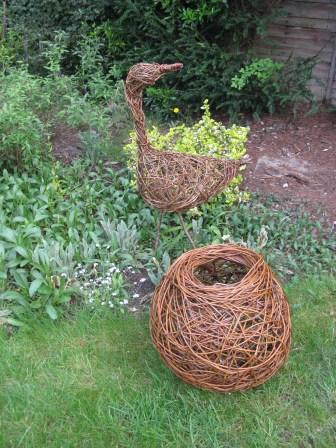 willow bird and sculpture - Sally Roach