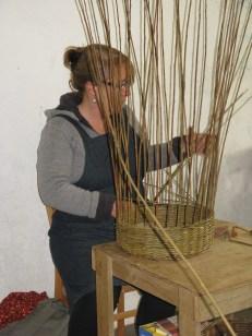 Christiane Gunzi weaving willow basket