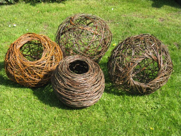 willow vessels using random weave