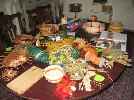 selection of basketry materials