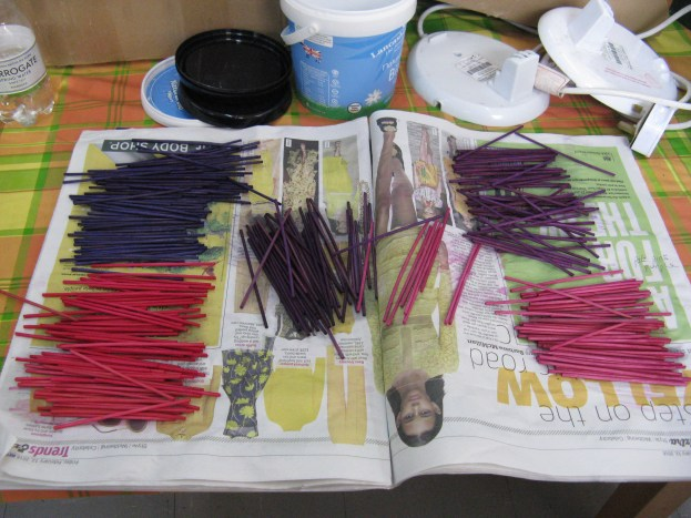 dyed cane for hairy basket