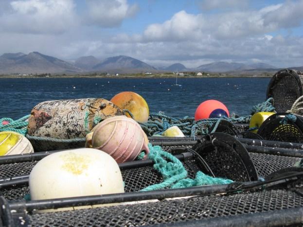 fishing nets, Roundstone, Co Galway