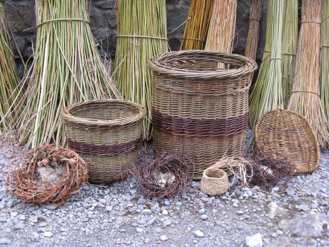 Baskets made by Sally Roach at Joe Hogan workshop