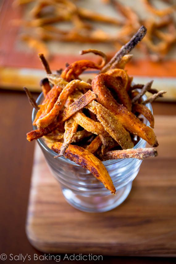 Learn how to make crisp sweet potato fries at home. Baked, not fried - so you can feel good about eating them!