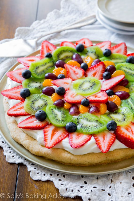 Fruit Pizza Sallys Baking Addiction