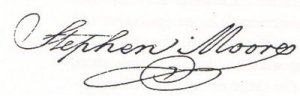 Stephen Moore signature