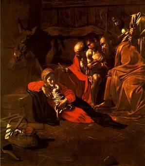 Adoration of the shepherds by Caravaggio in painted in Messina for the Church of Santa Maria degli Angeli