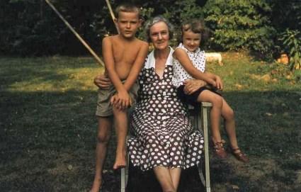 Flo with grandchildren Tom & Sally