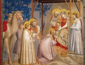 Adoration of the magi by Giotto in the Arena Chapel in Padua