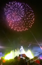 Font magica Montjuic Barcelona New Years eve 2014 fireworks with ironman sculpture