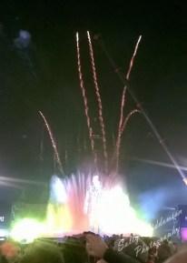 Magic fountain Montjuic Barcelona New Years eve 2014 fireworks
