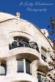 Close up external details on Gaudi Casa Mila, Barcelona